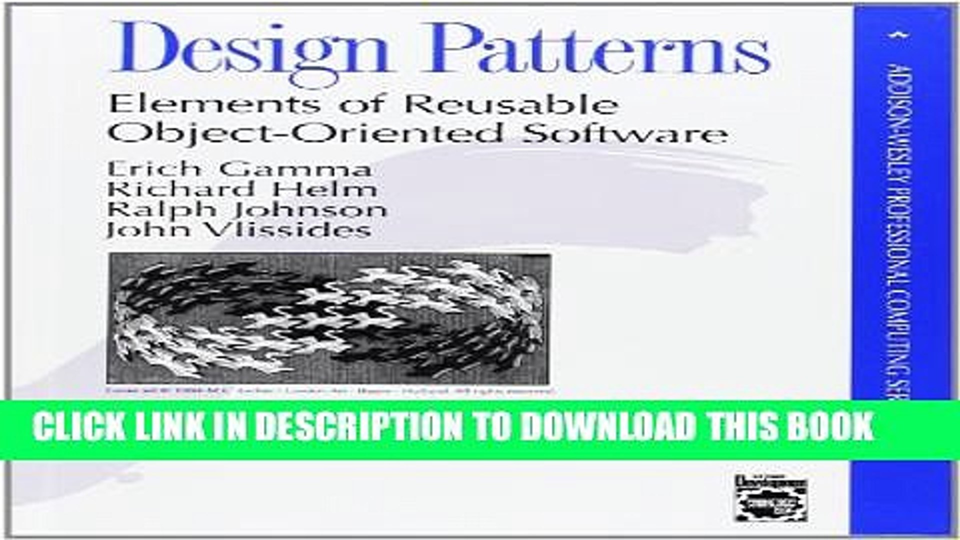 Pdf Design Patterns Elements Of Reusable Object Oriented Software Full Colection Video Dailymotion