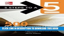 New Book 5 Steps to a 5 500 AP English Language Questions to Know by Test Day (5 Steps to a 5 on