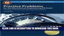 Collection Book Practice Problems for the Mechanical Engineering PE Exam, 13th Ed (Comprehensive