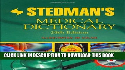New Book Stedman s Medical Dictionary