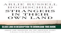 [PDF] Strangers in Their Own Land: Anger and Mourning on the American Right Popular Colection