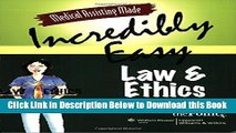 [PDF] Medical Assisting Made Incredibly Easy: Law and Ethics Free Books