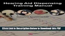 [PDF] Hearing Aid Dispensing Training Manual Ebook Online
