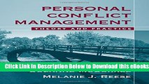[Reads] Personal Conflict Management: Theory and Practice Online Ebook