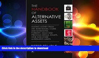 READ  The Handbook of Alternative Assets: Making money from art, rare books, coins and banknotes,