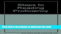 PDF Steps to reading proficiency: Preview skimming, rapid reading, skimming and scanning, critical