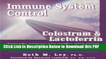 [Read] Immune System Control: Colostrum   Lactoferrin Free Books