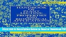 [PDF] Handbook of Plant Lectins: Properties and Biomedical Applications Free New