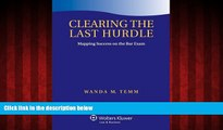 Popular Book Clearing the Last Hurdle: Mapping Success on the Bar Exam