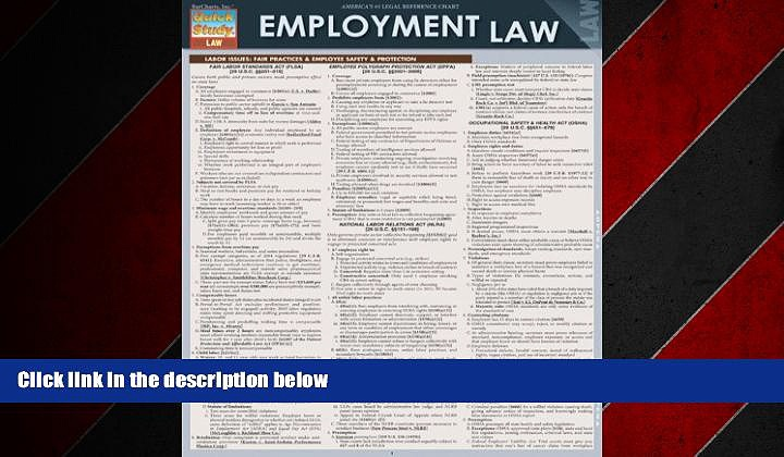 Online eBook Employment Law (Quick Study: Law)