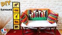 DIY - Faire une deco savane avec des girafes lion elephant  tuto deco Afrique