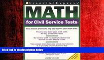 Popular Book Math for Civil Service Tests
