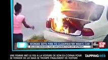 Une femme met le feu à la voiture de son ex pour se venger de lui mais se trompe finalement de voiture (vidéo)