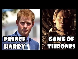 Prince Harry Compared to TV Series Game of Thrones' Jamie Lannister