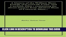 [PDF] A history of the William Dean Family of Cornwall, Conn. and Canfield, Ohio : containing the