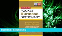 complete  Pocket Burmese Dictionary: Burmese-English English-Burmese (Periplus Pocket Dictionaries)
