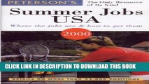 New Book Peterson s Summer Jobs USA: Where the Jobs Are   How to Get Them (Summer Jobs in the USA)