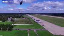 Watch The World's Biggest Helicopter lift the world's Biggest Helicopter - Mi-26