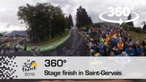 [Video 360°] L'arrivée à Saint-Gervais / Finish in Saint-Gervais - Tour de France 2016