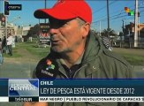 Chile: miles de pescadores exigen anulación de la Ley de Pesca vigente