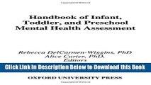 [Best] Handbook of Infant, Toddler, and Preschool Mental Health Assessment Online Ebook