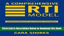 [Best] A Comprehensive RTI Model: Integrating Behavioral and Academic Interventions Free Books