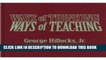 [PDF] Ways of Thinking, Ways of Teaching Full Colection