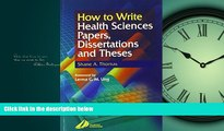 Popular Book How to Write Health Sciences Papers, Dissertations and Theses, 1e