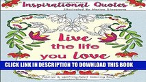Collection Book Inspirational Quotes: A Positive   Uplifting Adult Coloring Book (Beautiful Adult