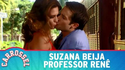 Suzana beija professor Renê