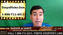 New Orleans Saints vs. Oakland Raiders Free Pick Prediction NFL Pro Football Odds Preview 9-11-2016