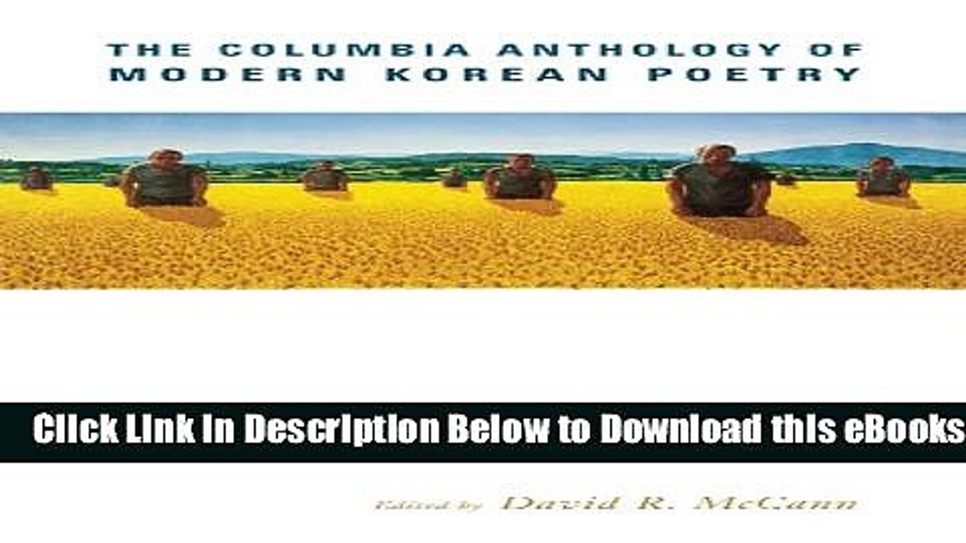 [Download] The Columbia Anthology of Modern Korean Poetry Free Books