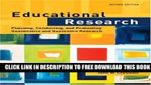 New Book Educational Research: Planning, Conducting, and Evaluating Quantitative and Qualitative