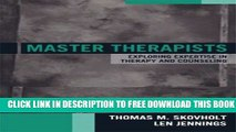 New Book Master Therapists: Exploring Expertise in Therapy and Counseling