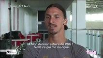 Zlatan Ibrahimovic pas très reconnaissant envers le PSG et ses supporters dans une interview