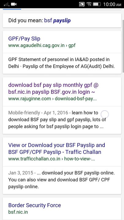 download bsf payslip on mobile