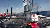 America's cup: à bord de Groupama dans la rade de Toulon