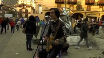 Baby Ride Easy - Live in Courmayeur (Johnny Cash's style cover with guitar, harmonica and vocals)