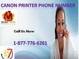 Grab Online Aid through Canon printer Phone Number 1-877-776-6261
