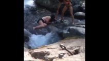 Traverser une rivière bourrée... FAIL bien ridicule