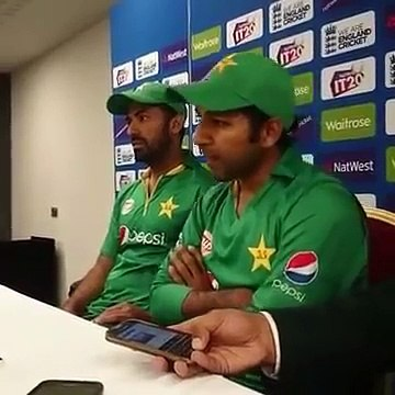 Sarfraz Ahmed & Wahab Riaz press conference in Manchester After Pakistan Victory