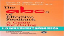 New Book The ABCs of Effective Feedback: A Guide for Caring Professionals