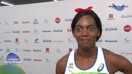 Mandy François-Elie - Médaille d'argent 100m T37