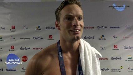 Charles Rozoy - 100 m Papillon S8 - 4 ème - Jeux Paralympiques Rio 2016