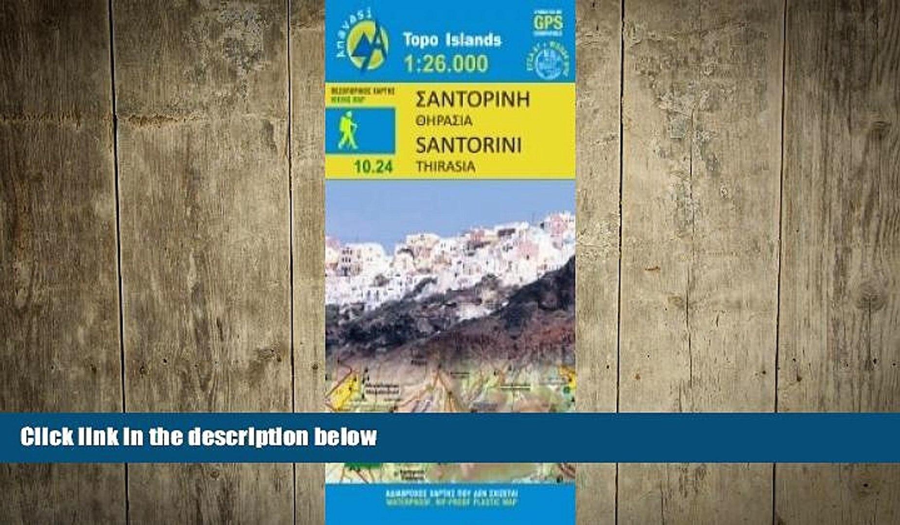 Read Book Santorini Thirasia Greece 1 35 000 Hiking Map Waterproof Gps Compatible Orama