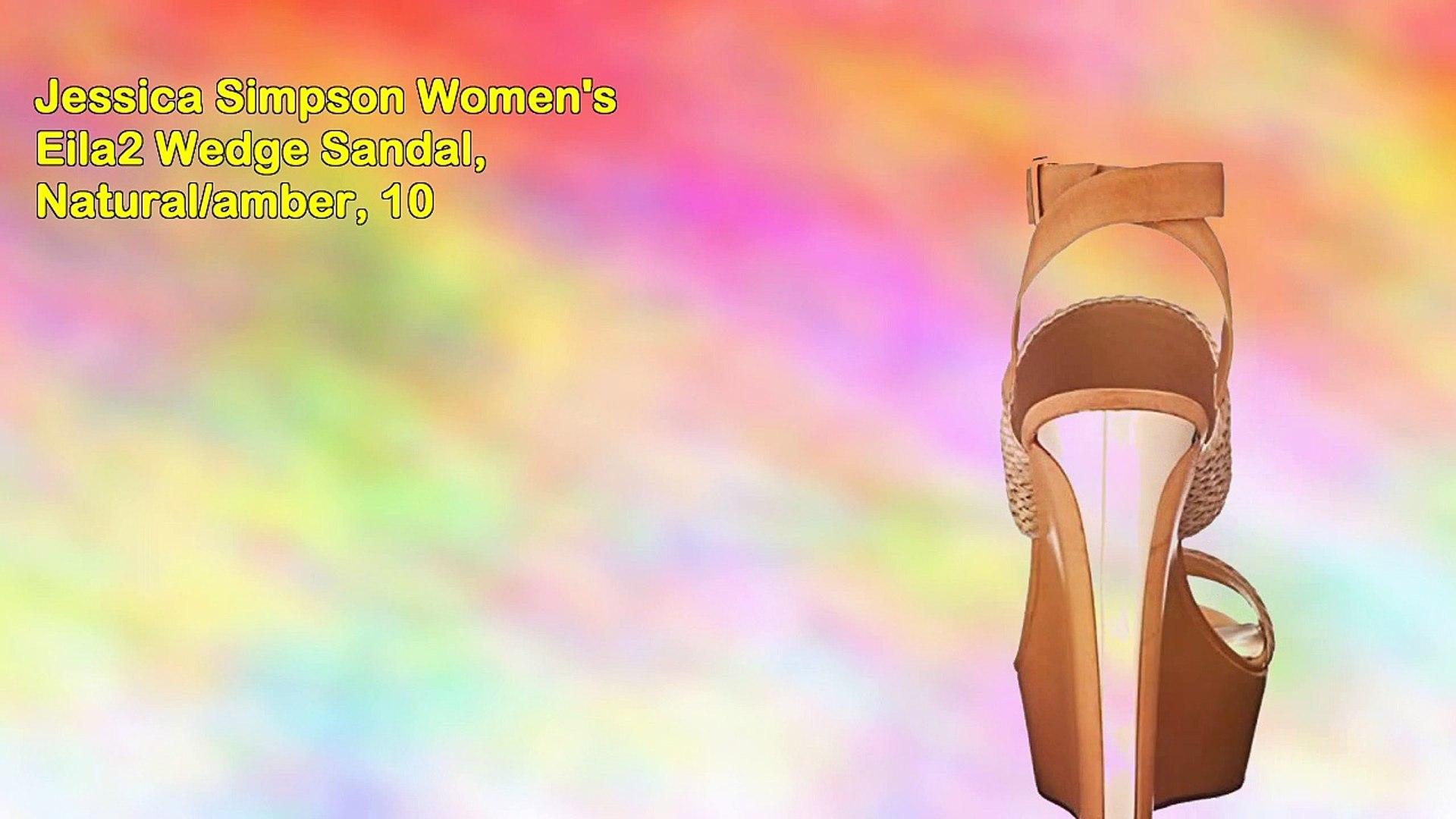 Amber Simpson Videos jessica simpson women's eila2 wedge sandal, natural-amber