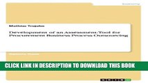 [PDF] Development of an Assessment-Tool for Procurement Business Process Outsourcing Popular Online