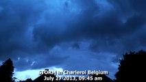 Storm & Thunder In Charleroi, Orage et Tonnerre à Charleroi Belgium, july 27, 2013, 09 45 am