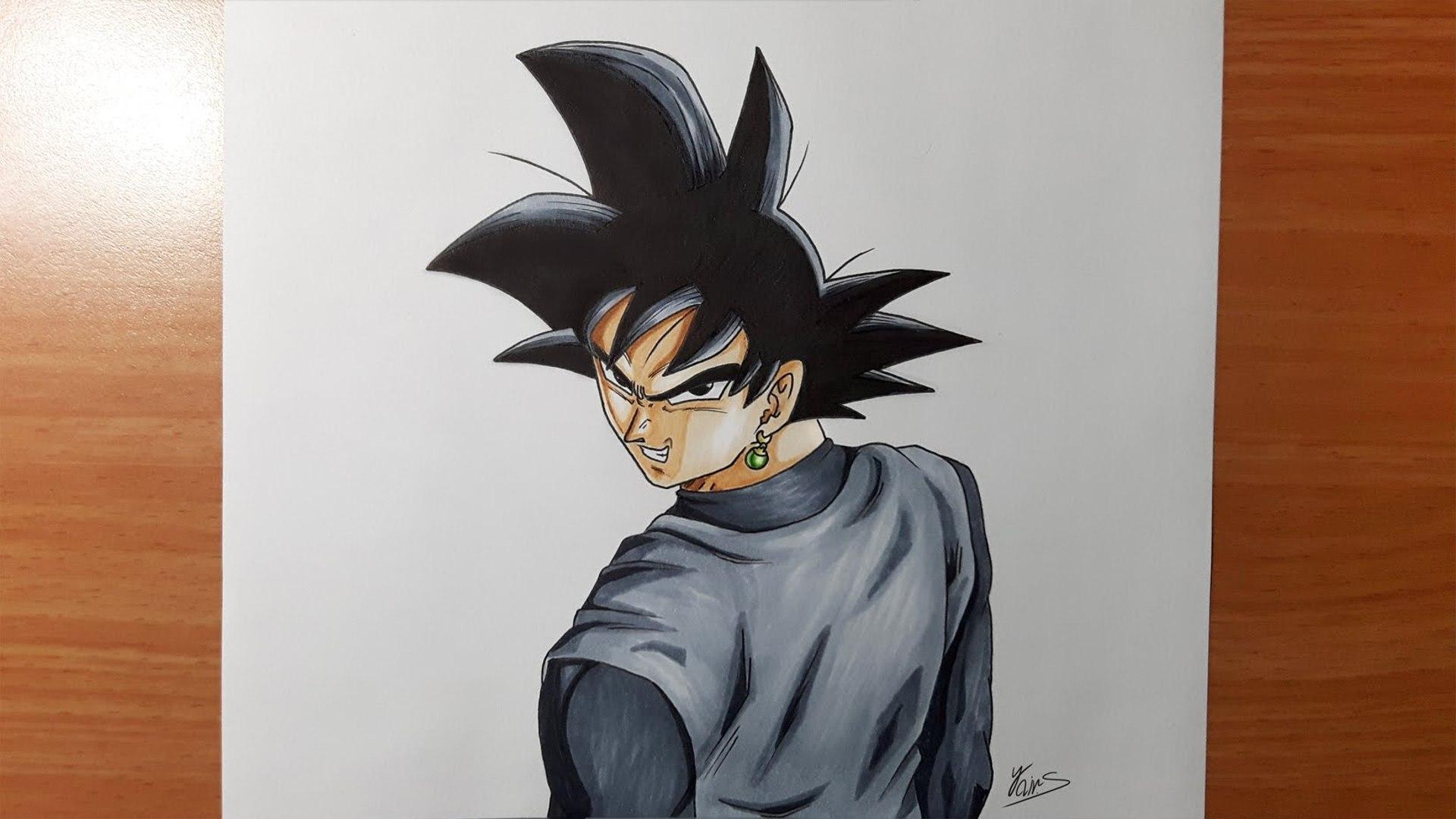 Dessiner Goku Black Dragon Ball Super