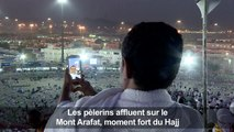 Les pèlerins affluent sur le Mont Arafat, moment fort du hajj